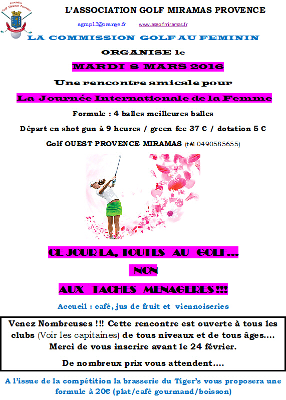 Golf rencontres femme